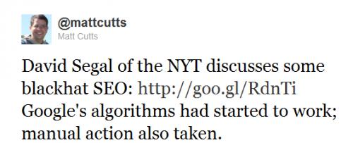 Matt Cutts na Twitterze o sprawie JCPenney