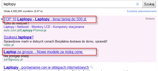 format adwords w google.pl
