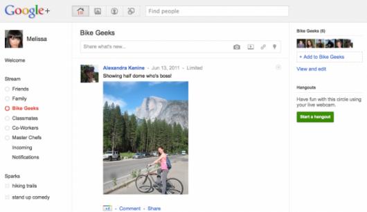 Google+ - Stream - zrzut ekranowy