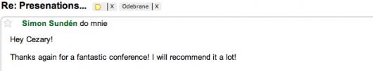 mail pochwalny Simon