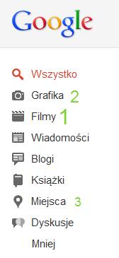 lewe menu Google