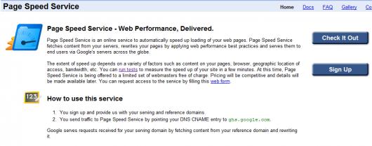 page speed service strona glowna