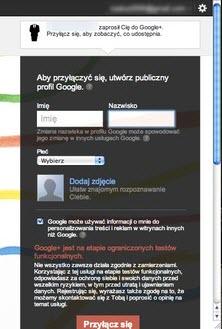 rejestracja w Google Plus