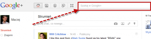 2 search box w google plus