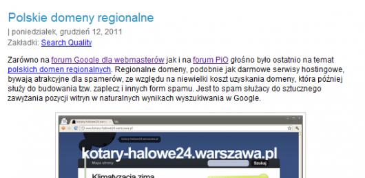banowanie witryn w domenach regionalnych