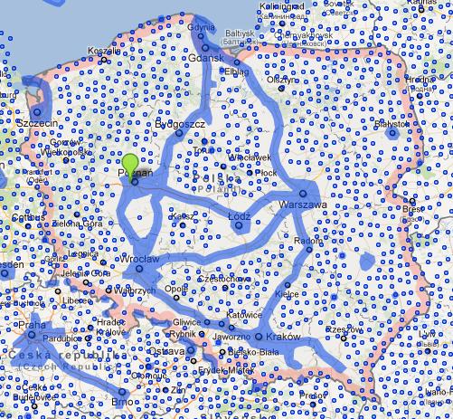 0 mapa Polski