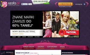 Przeciętna czytelniczka Szafa.pl po wejściu na stronęwidzi tylko reklamę
