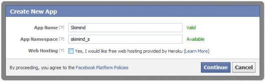 Tworzenie aplikacji w facebook - pierwszy ekran