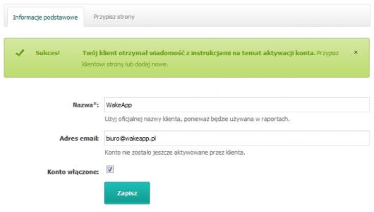 Dodawanie klienta w SeoStation.pl