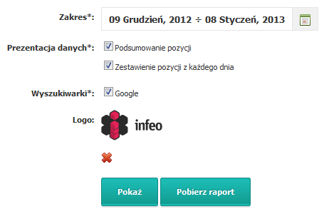 Generowanie raportu PDF