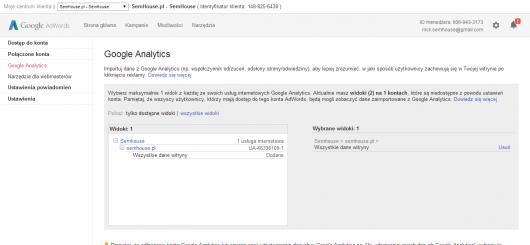 Łączenie AdWords z Analytics: krok 5