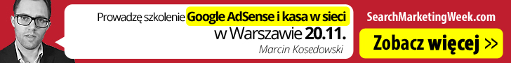 Kosedowski Szkolenie Google AdSense i kasa w sieci