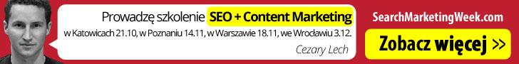 Cezary Lech Szkolenie SEO + Content Marketing