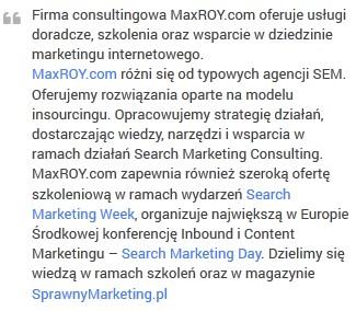 Opis firmy MaxROY.com