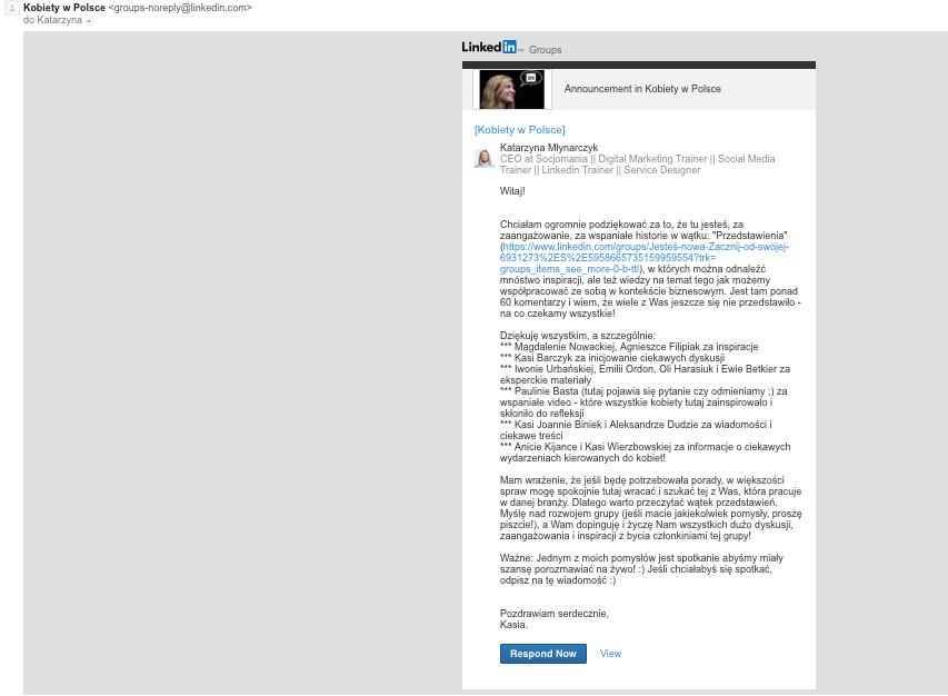 Email do użytkoników grupy