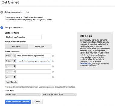 Kontener Google Tag Manager
