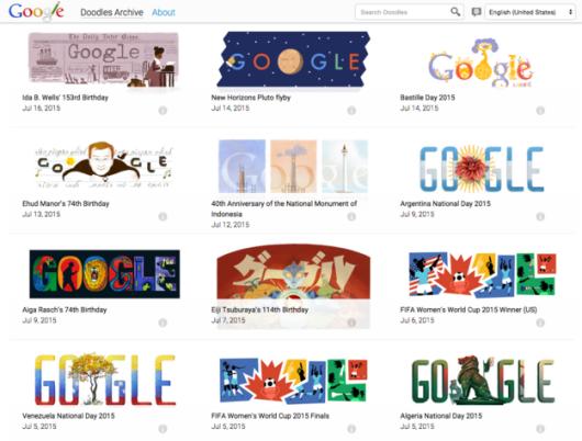 16 doodles google