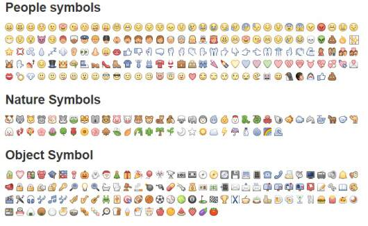 kolorowe ikony na Facebooku