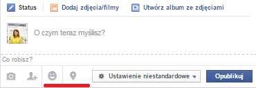Jak oznaczyć nastrój na Facebooku