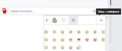 Grafiki w komentarzach Facebooka