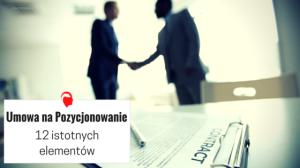 Umowa na pozycjonowanie