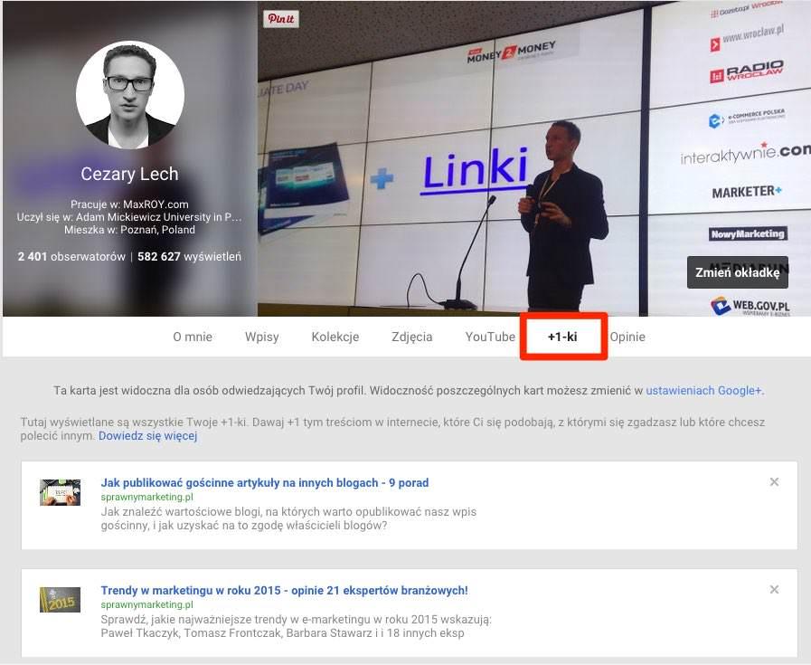Cezary Lech +1 w Google+ linki seo dofollow