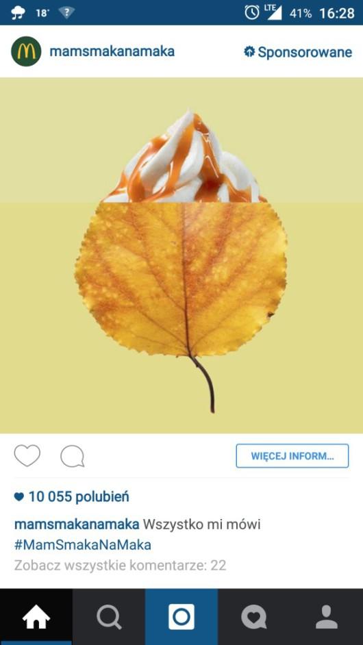 Reklama Instagram