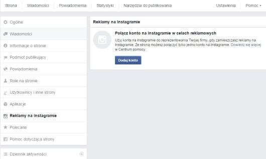Integracja Facebooka z Instagramem