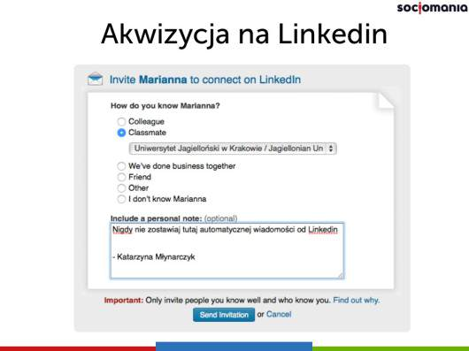 Zaproszenie LinkedIn
