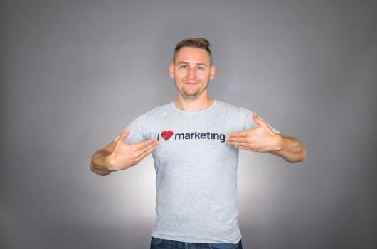 Koszulka I <3 LOVE Marketing