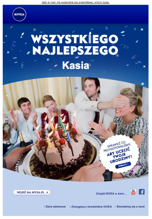 WIadomość urodzinowa