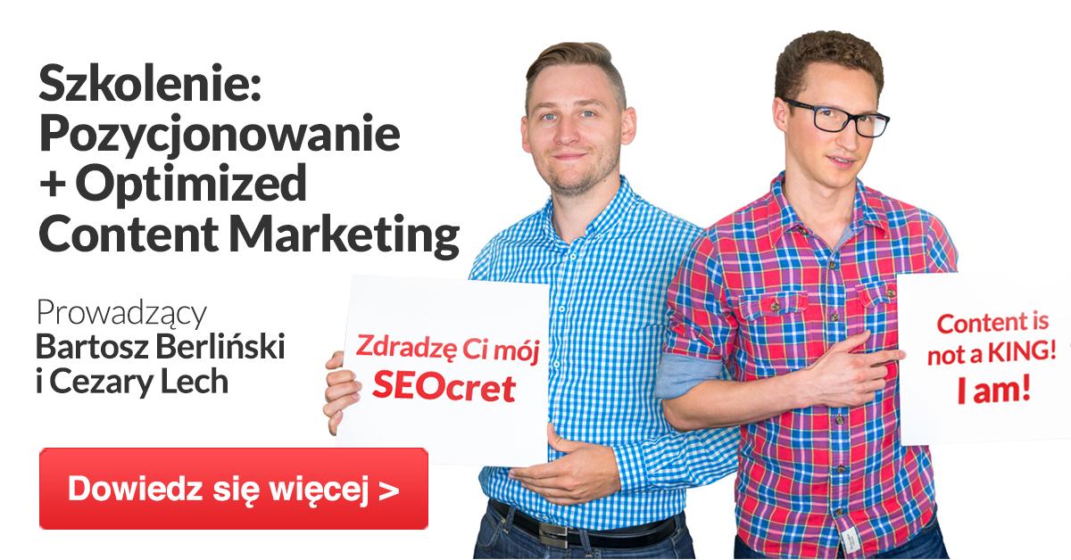 Szkolenie Optimized Content Marketing