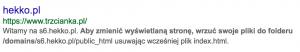 Hekko.pl - zaindeksowane strony https