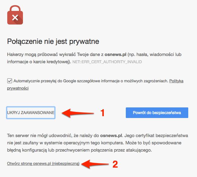 tryb zaawansowany w google chrome