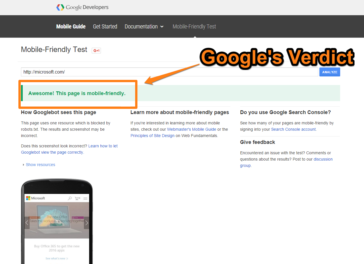 25_Mobile-Friendly-Test-Googles-Verdict-on-Microsofts-Website