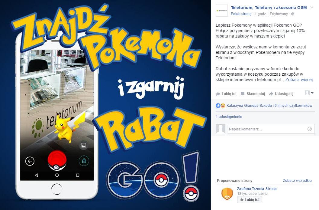 marketingowe wykorzystanie pokemon go