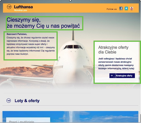 Lufthansa mailing