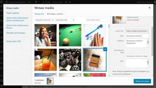 opis obrazków w WordPressie