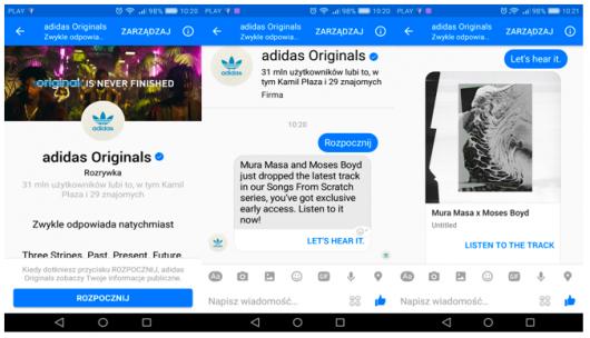 chatbot wykorzystywany prze adidasa