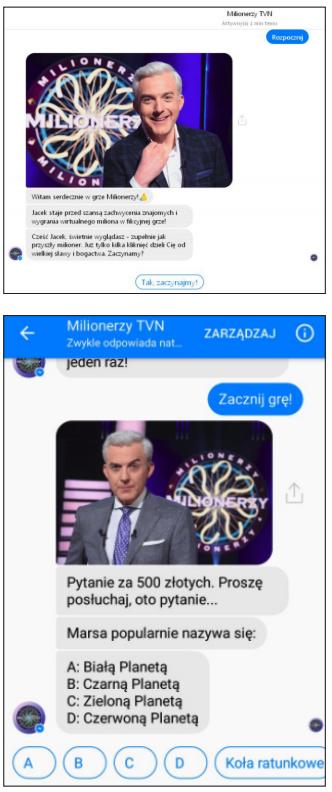 chatbot milionerów