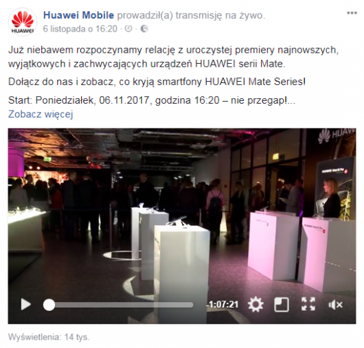 transmisja Huawei Mobile