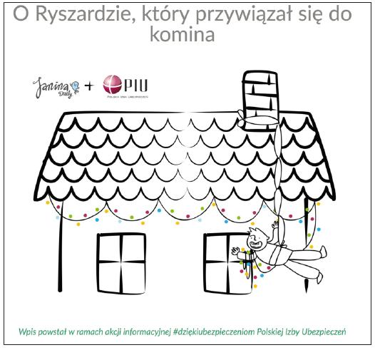 Fragment wpisu promującego Polską Izbę Ubezpieczeń