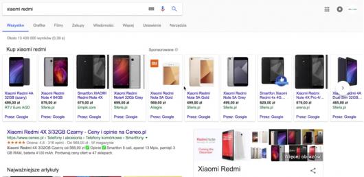 nowy widok produktów w wyszukiwarce