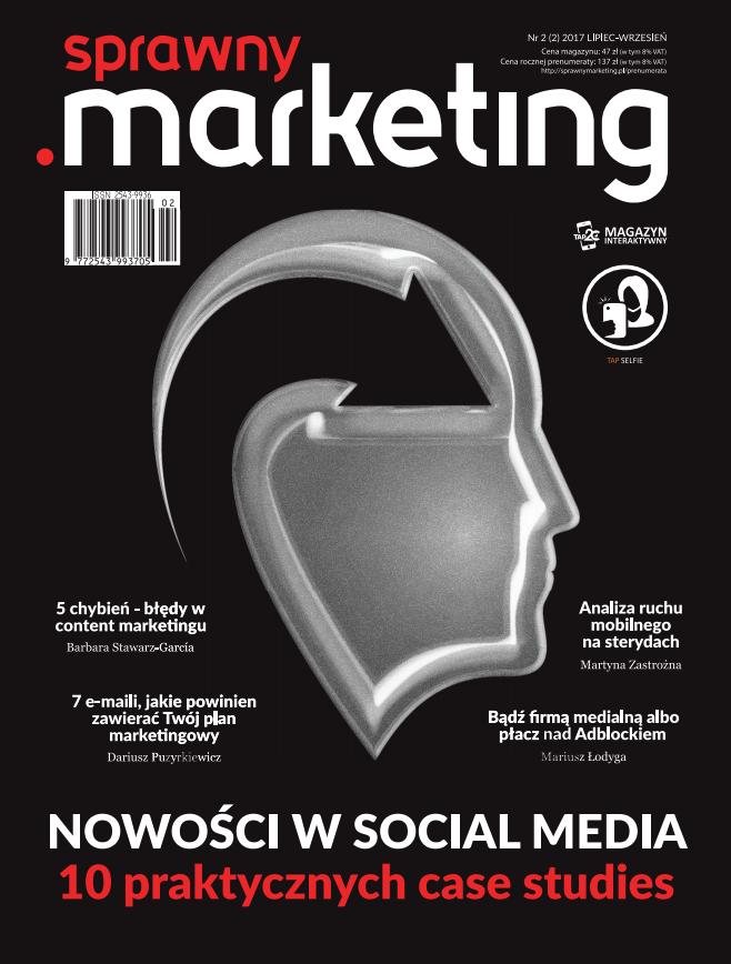 Okładka pierwszego numeru sprawny.marketing