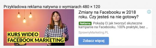 przykład reklamy natywnej
