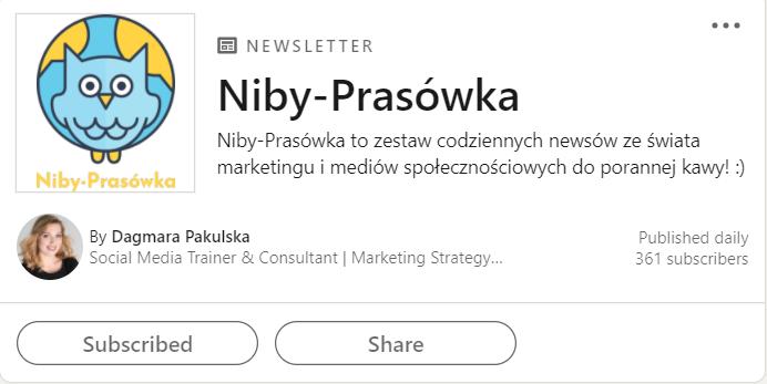 newsletter linkedin