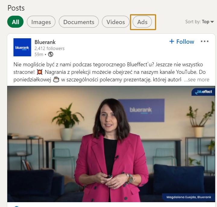reklamy na linkedinie