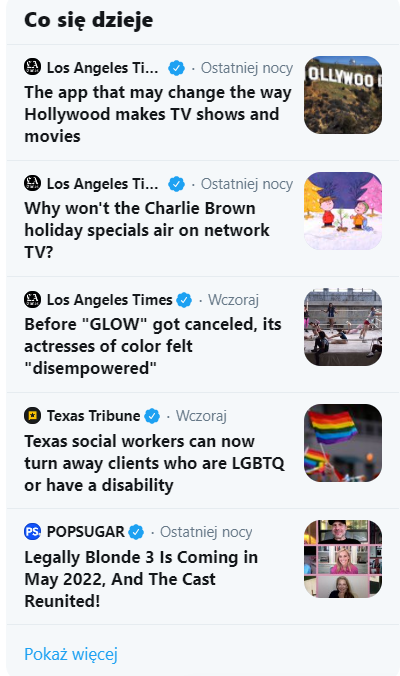 trendy na twitterze