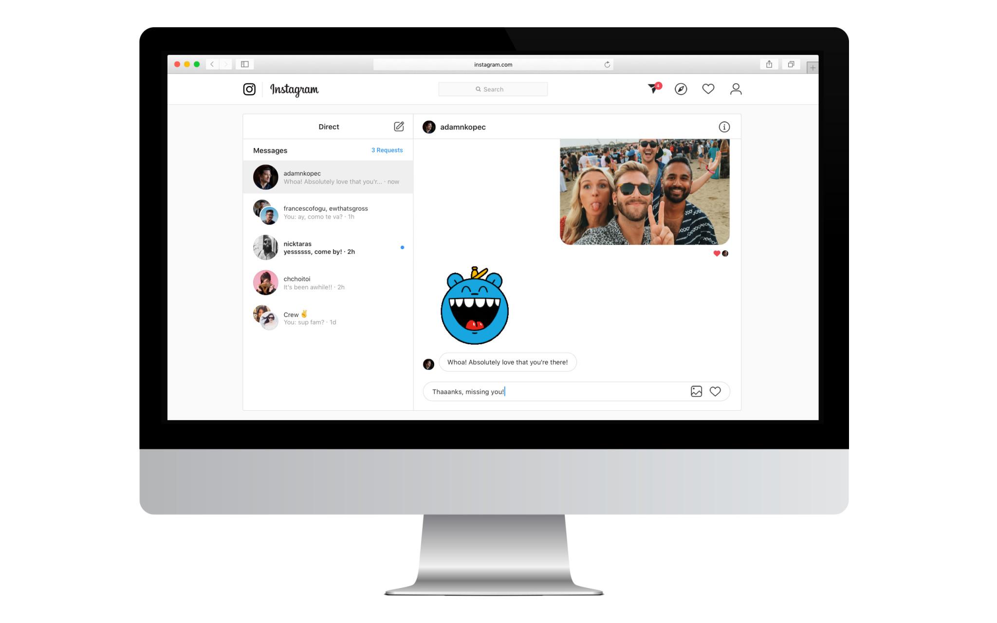 instagram direct desktop