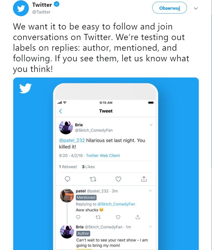 reklama na Twitterze